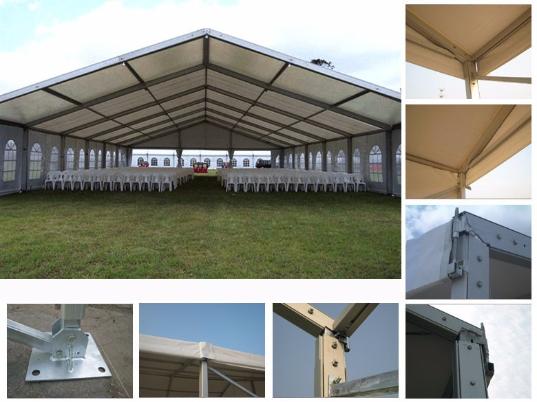 15m Width Outdoor White Pvc Party Marquee Wedding Tent For