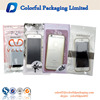 Customized mobile accessories plastic bags for Samsung/iphone/cell phone zipper packaging bag