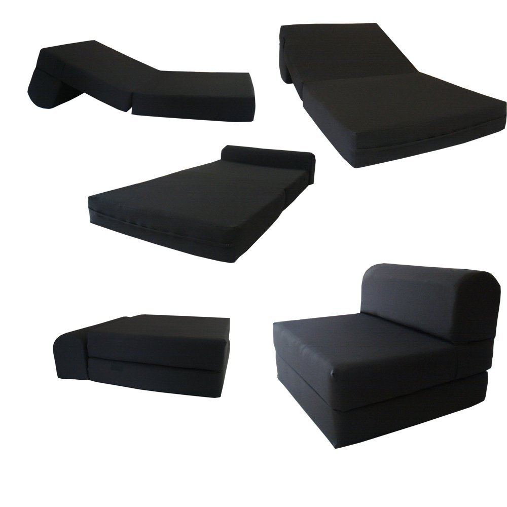 Sleeper Chair Folding Foam Bed Sized 6 Thick X 32 Wide 70 Long Studio Guest Foldable Beds Sofa Couch High De