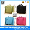 Hot sale 300D waterproof nylon hanging travel toiletry bag with custom logo