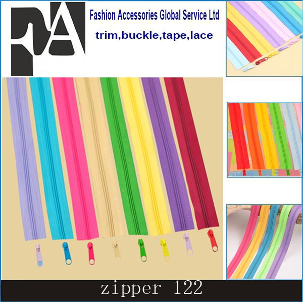 e200765346a All size any length any color nylon zipper for wholesale,lace tape C/E, A/L  two way zip