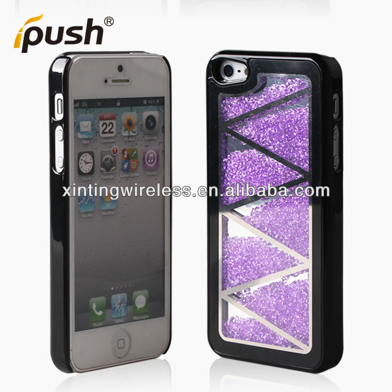 New style Bling crystal cell phone PC case for iPhone5