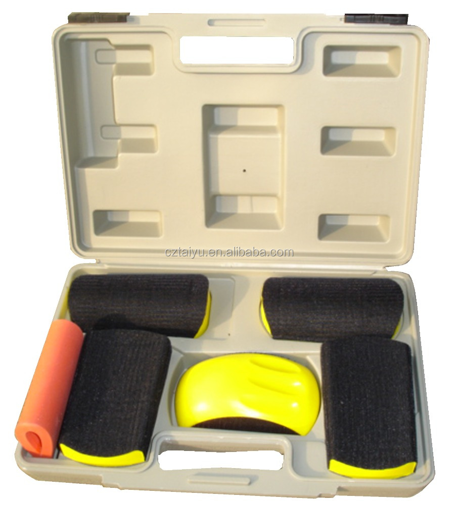 velcro car polishing and refinishing block tools kit