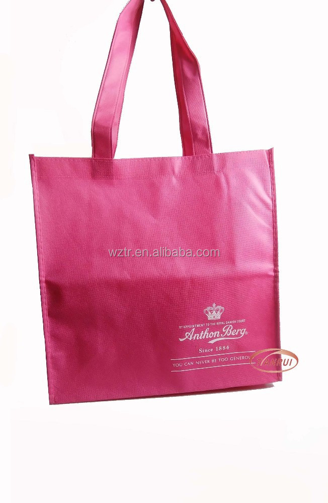 factory fashion pink non woven garment bags