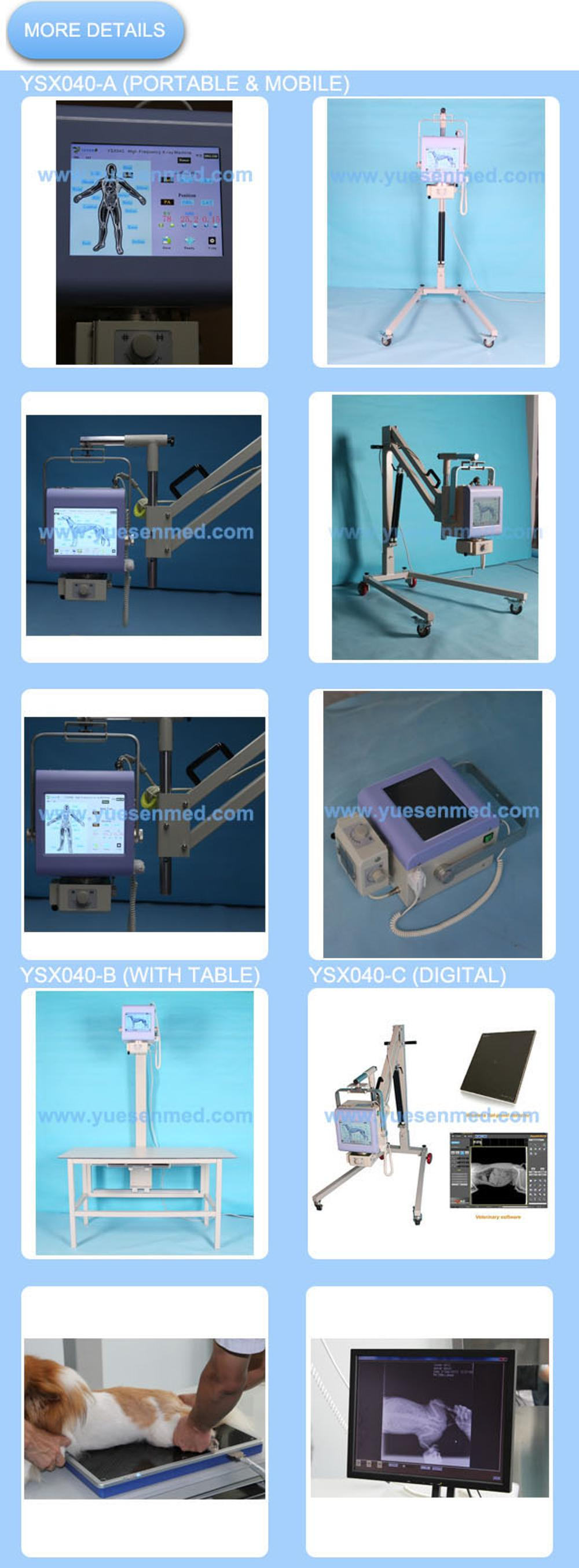 DR detector 4KW Mobile stand Digital Portable Veterinary x-ray machine With Laptop software YSX040-C