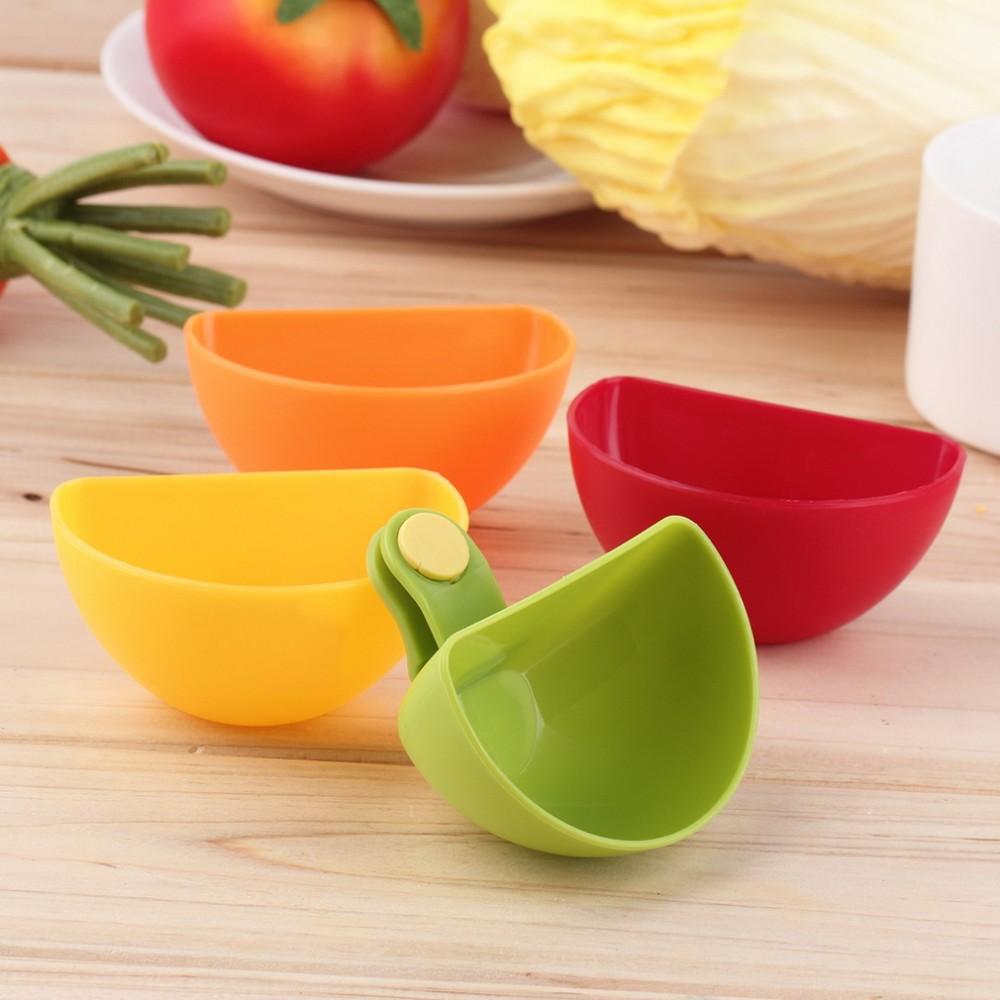 Verschiedene Salat Sauce Ketchup Marmelade Dip Clip Tasse Schüssel Untertasse