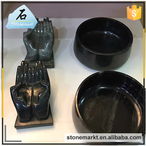 Home ornament hands shape craft stone sculpture art for Ink brush