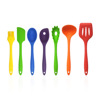 Hot Selling Colorful Cooking Tools 7PCS Silicone Kitchen Utensil Set