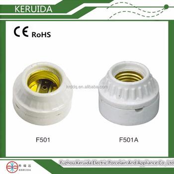 Candle Porcelain Ceramic E26 E27 Flashing Light Lamp Holder Socket