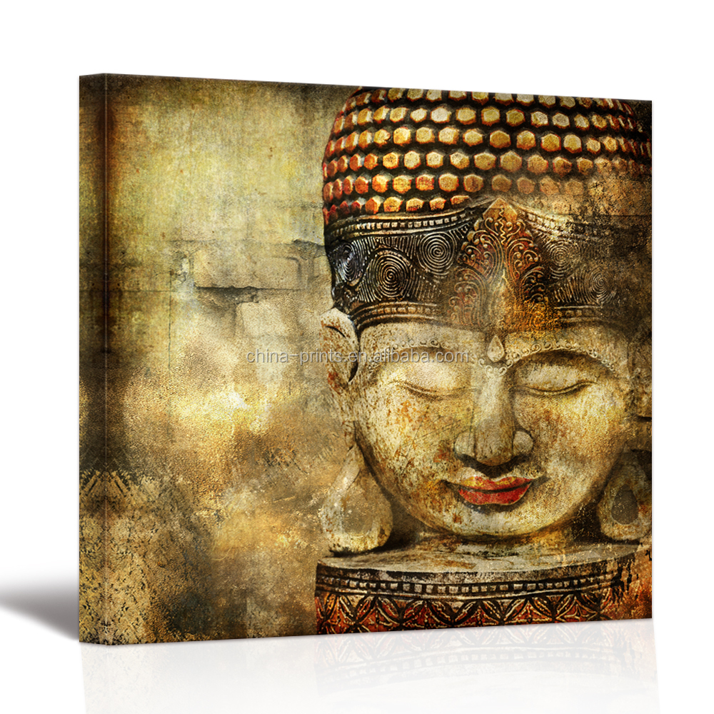 Peaceful buddha canvas prints pictures on canvas abstract painting for bedroom framed wall art stretched ready to hang on wall buy 1panel canvas