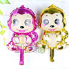 Factory Newest Design Metallic Cartoon Monkey Foil Inflatable Helium Animal Balloon