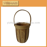 Easy to carry basket,wood+bamboo fruit basket