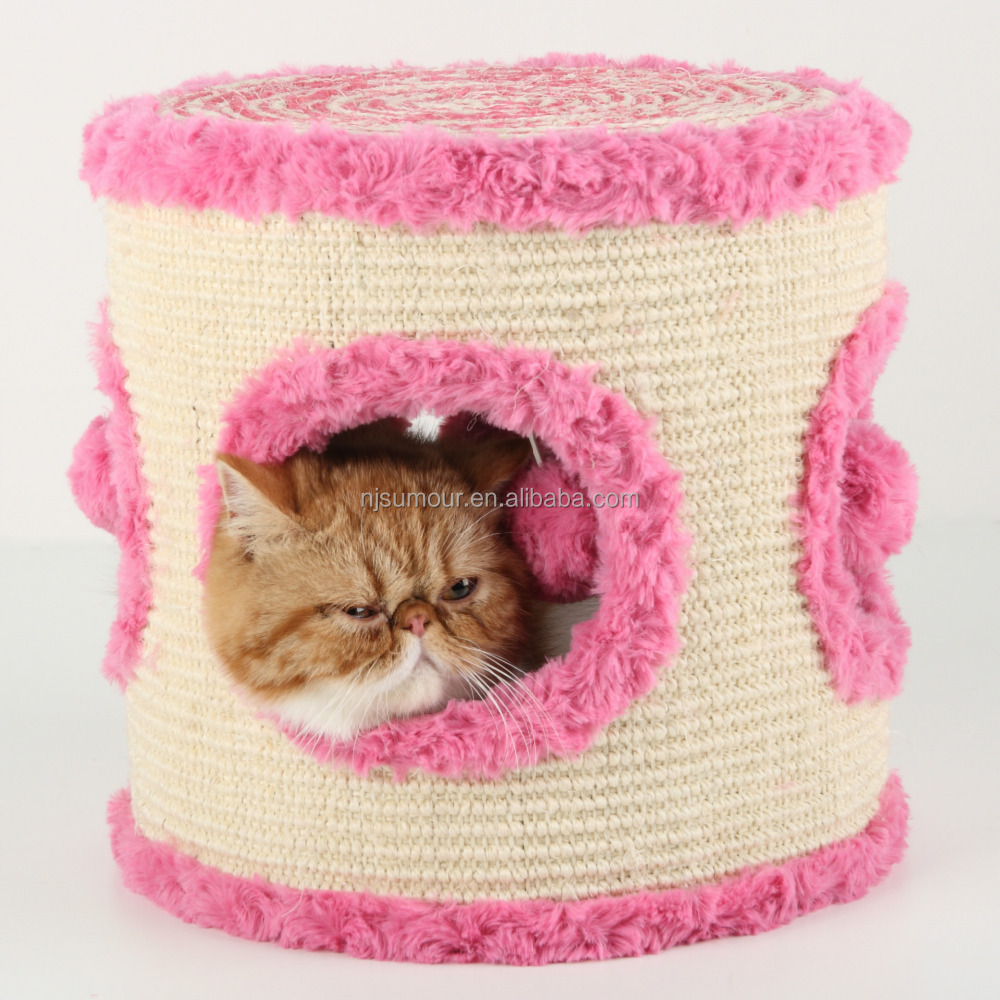 cat home cage hang a bell lovely pink house cute nest small window