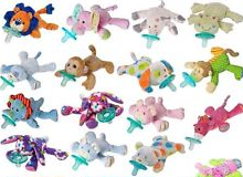 free sample baby animal Pacifier Holder Perfect Baby Shower Gift for Newborn Boys and Girls