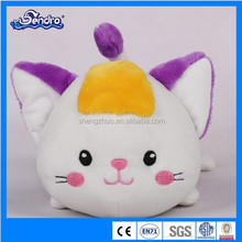 hotsales soft plush animal toy pretty purple cat gifts