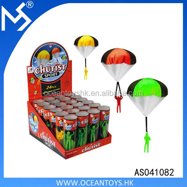 Children Toy Outdoor Play Game Chutist Mini Parachute Toy For Kids