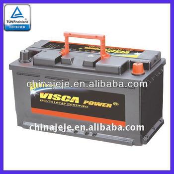 lead acid battery mf58827 12v 88ah visca buy car battery. Black Bedroom Furniture Sets. Home Design Ideas