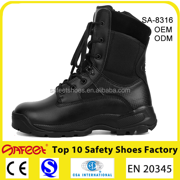 Made in China men combat shoe and wholesale combat boots and jungle army combat shoes China factory (SA-8316)