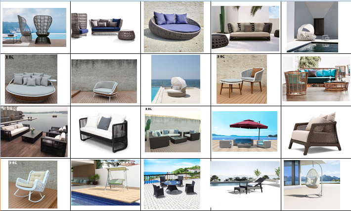 Foshan wholesale project custom garden plastic outdoor synthetic rattan sofa set