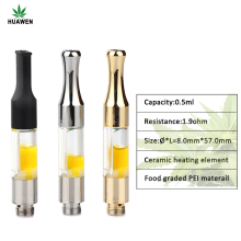 2017 most popular cbd/thc/hemp thick vape oil and e-liquid atomizer g2 0.5ml vape pen cartridge