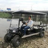 Popular design gasoline powered 6 passenger used golf cart