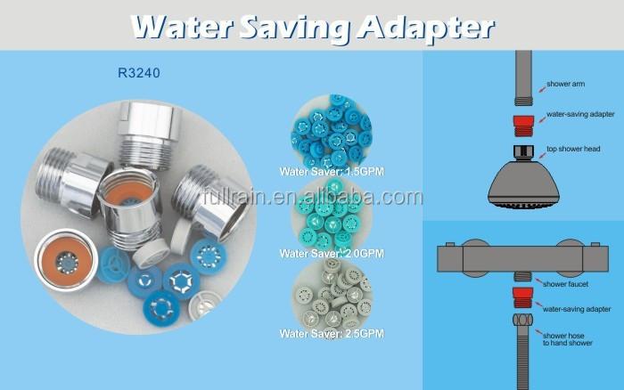 fullrain water saving shower adapter water flow restrictor regulator reducer 50 consumption reduction