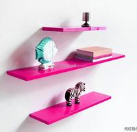 Factory Price set 3 HG pink floating wall shelf modern floating shelf