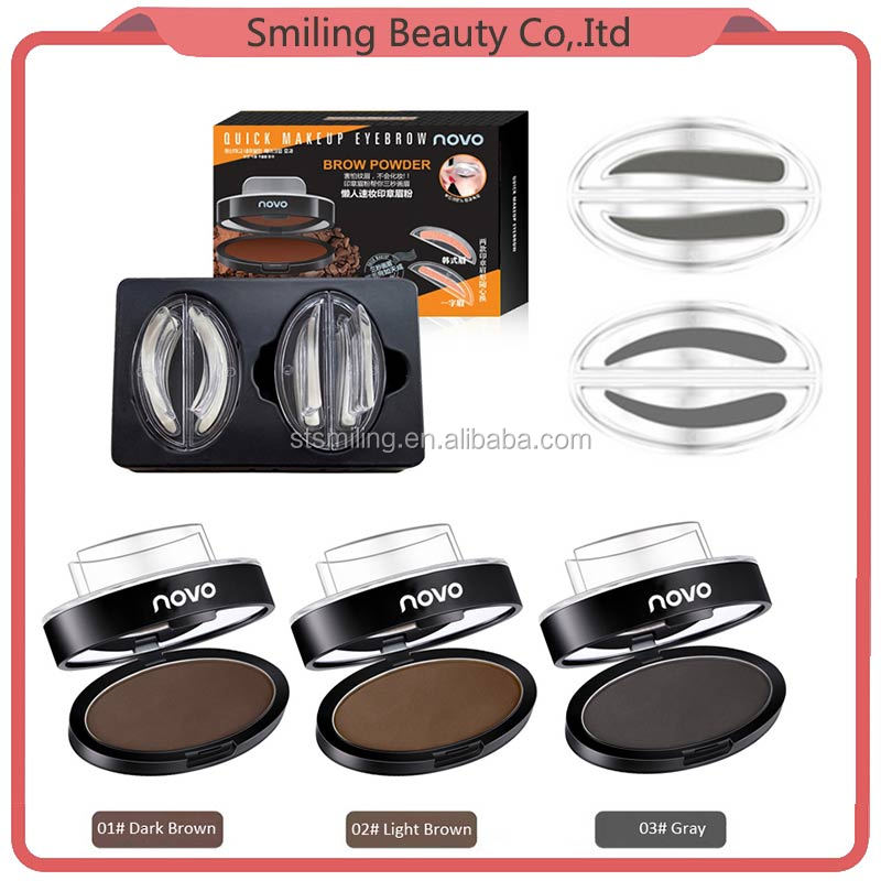 NOVO Best Selling Products 2017 In USA Fashion Waterproof Eyebrow Stamps Qucik Eyebrow Makeup Eyebrow Powder Seal