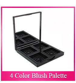 फैक्टरी गर्म बेच कस्टम पैटर्न कॉस्मेटिक 2 रंग खाली आंखों के छायाएं प्लास्टिक प्रकरण कंटेनर ब्लश पैलेट पैकेजिंग के साथ दर्पण