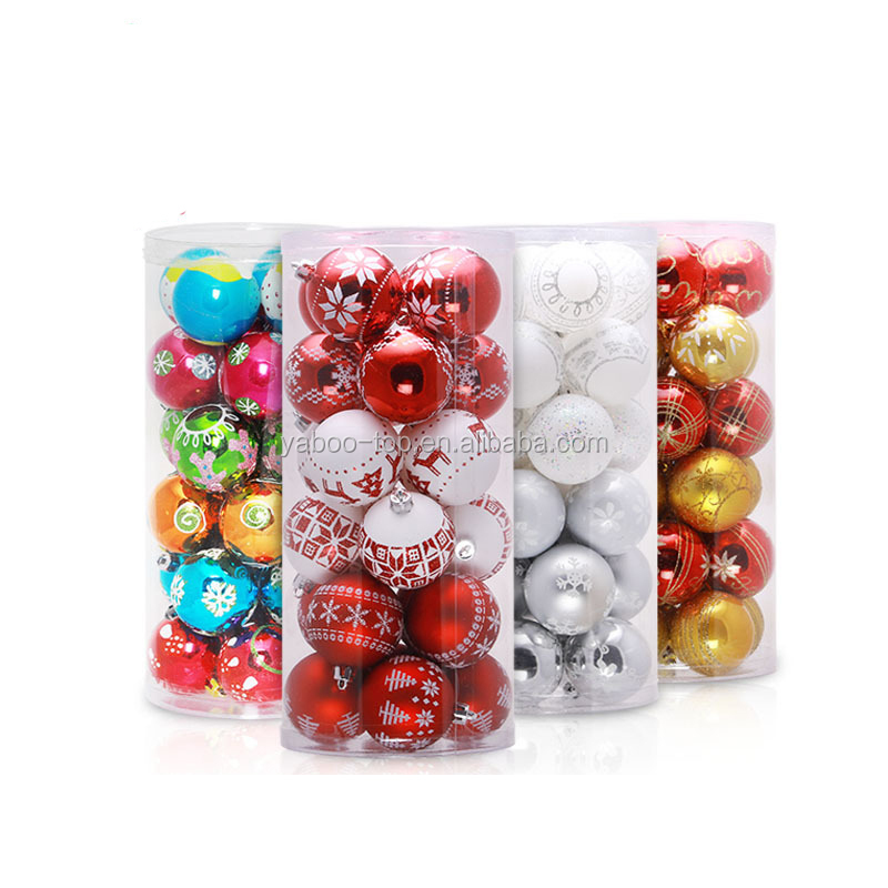 24pcs/Set Christmas Decorations For Home Xmas Tree Decorations Christmas Ball Baubles Party Wedding Hanging Ornament