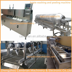 Apple jam making used industrial apple peeling/coring/cutting machine with low price