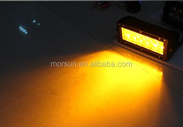 3000k Amber Lighting Bar Led Fog Light 120w 20 Inch Yellow