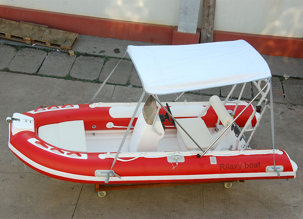 6 Person Rigid Inflatable Boat With Sunshade