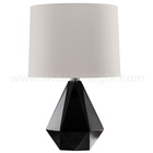 UL CUL Approved Painting Black Indoor Lamp Table With Fabric Shade T20361