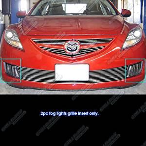 Fits 2009-2010 Mazda 6 Mazda6 Fog Lights Billet Grille Grill Insert #M65160A