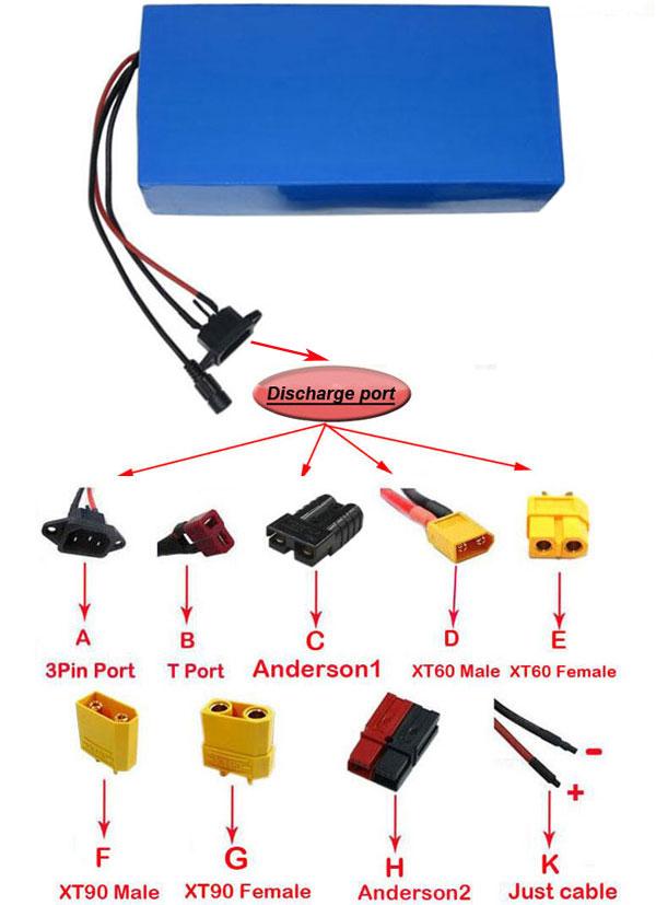Аккумулятор литиевый 16S14P NCR18650 29PF 2000 Вт для электрического скутера, 60 В, 40 Ач