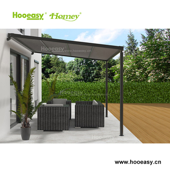 Precio razonable negro impermeable p rgola de hierro forjado cubre al aire libre con sombra - Pergola impermeable ...