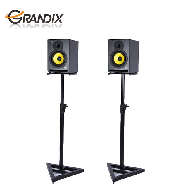 Suporte de alto-falante ajustável em altura resistente de metal, suporte de alto-falante em aço triângulo, para estúdio doméstico/palco