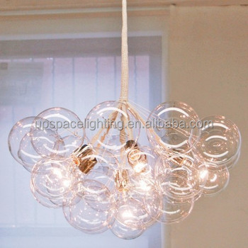 Modern Pelle Replica Lighting Bubble Chandelier Gl Pendant Light Decorative Magical Spectacular Crystal Palette Of