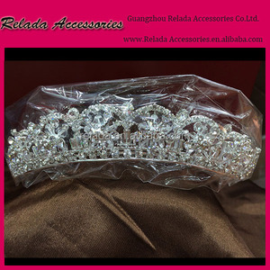 China factory Direct Wholesale hair accessories headpiece bridal with crystal