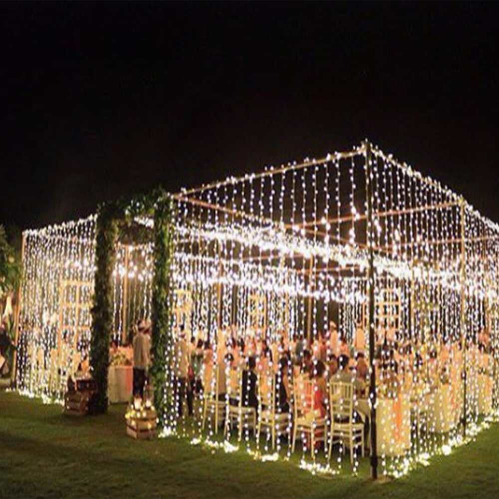 Led Light Outdoor Decoration: Connectable Invisible Led Cascading Curtain Fairy Lights