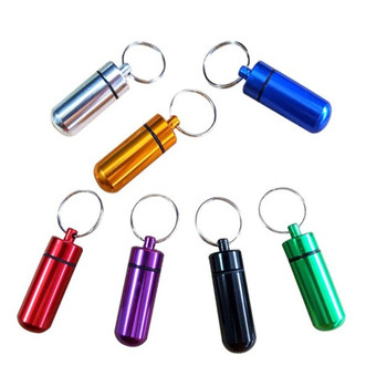Oempromo mini metal pill holder case box keychain