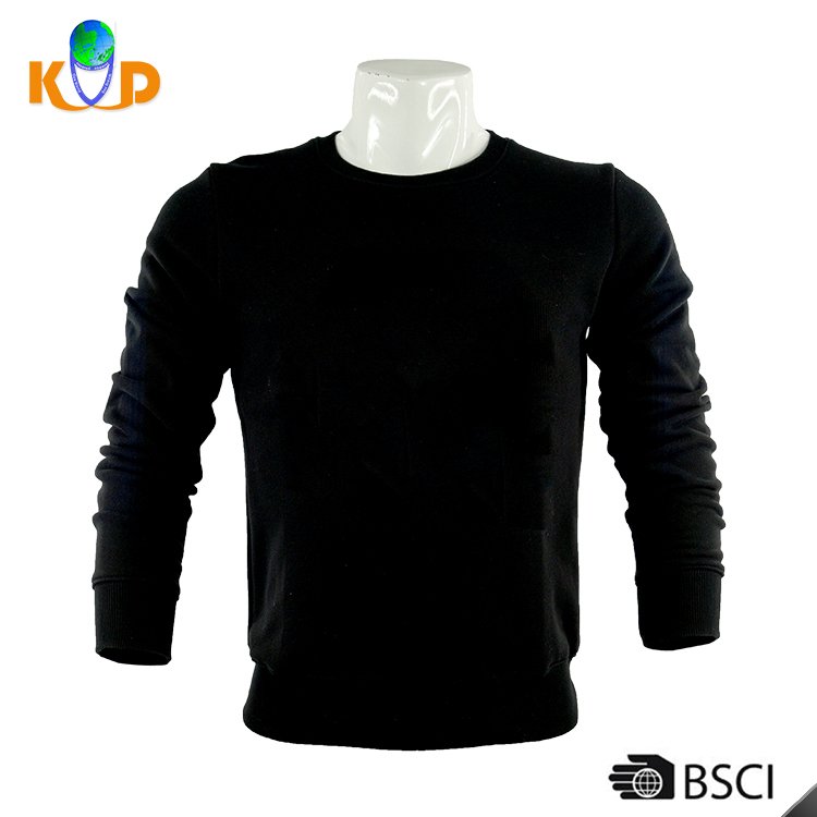 OEM and ODM Orders welcome Black 230 sgm fitted long Sleeve men blank t-shirt