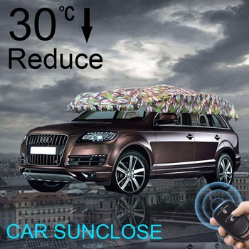 SUNCLOSE Car Roof Top Tent Sun Shelter For Beach C&ing Garage Canvas & Sunclose Car Roof Top Tent Sun Shelter For Beach Camping Garage ...