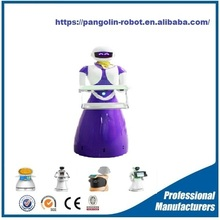 best selling dish delivering robot /hotel service robot/wedding ceremony robot