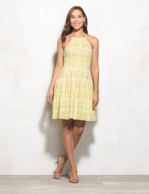 Halter Yellow Pattern Semi Formal Dresses For Women - Buy Semi ...
