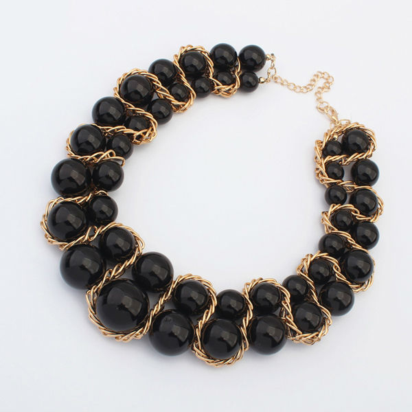 Pearl necklace costume jewelry wholesale imitation pearl necklace fashion natural black pearl necklaces PN2258