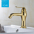 Single handle bathroom brushed gold modern bathroom faucet basin mixer tap