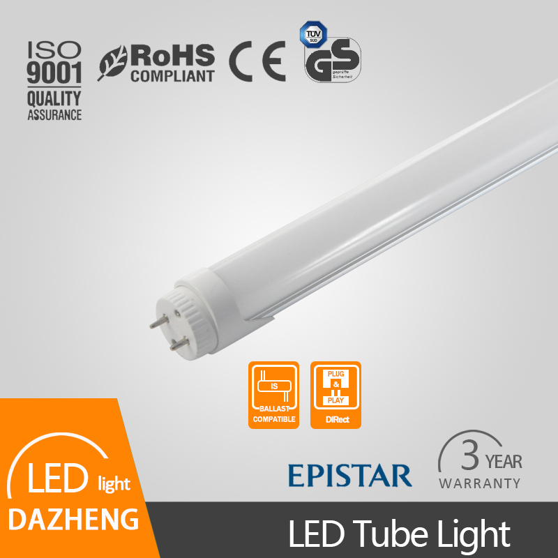 ce rohs certificate frost and clear cover G13 rotatable led tube t8 light