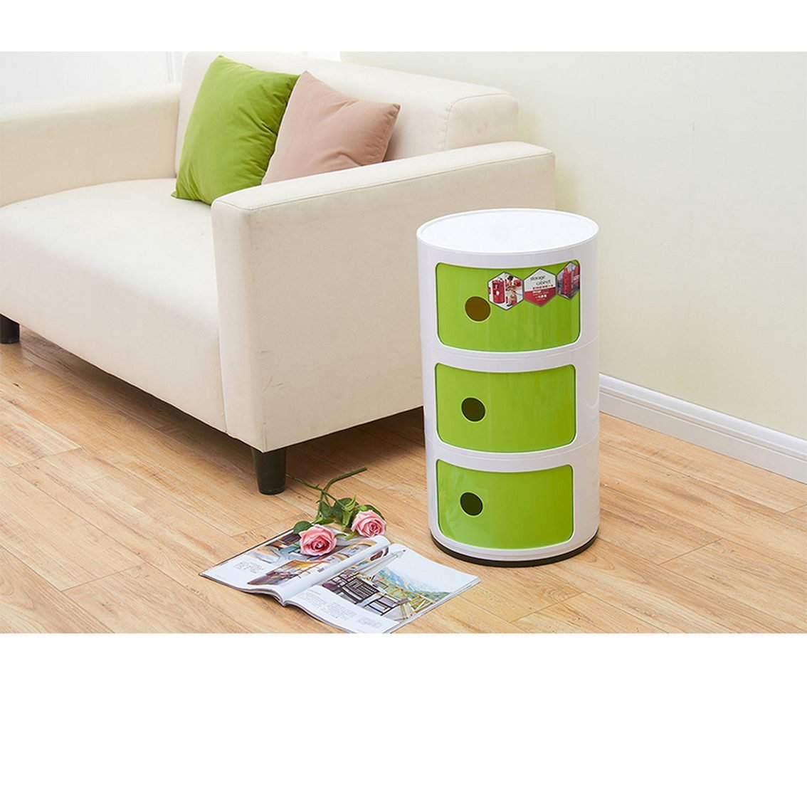 Get Quotations Jii2030shann Mini Bedside Cabinets Plastic Round Storage Bedroom Corners Simple And Modern Multi